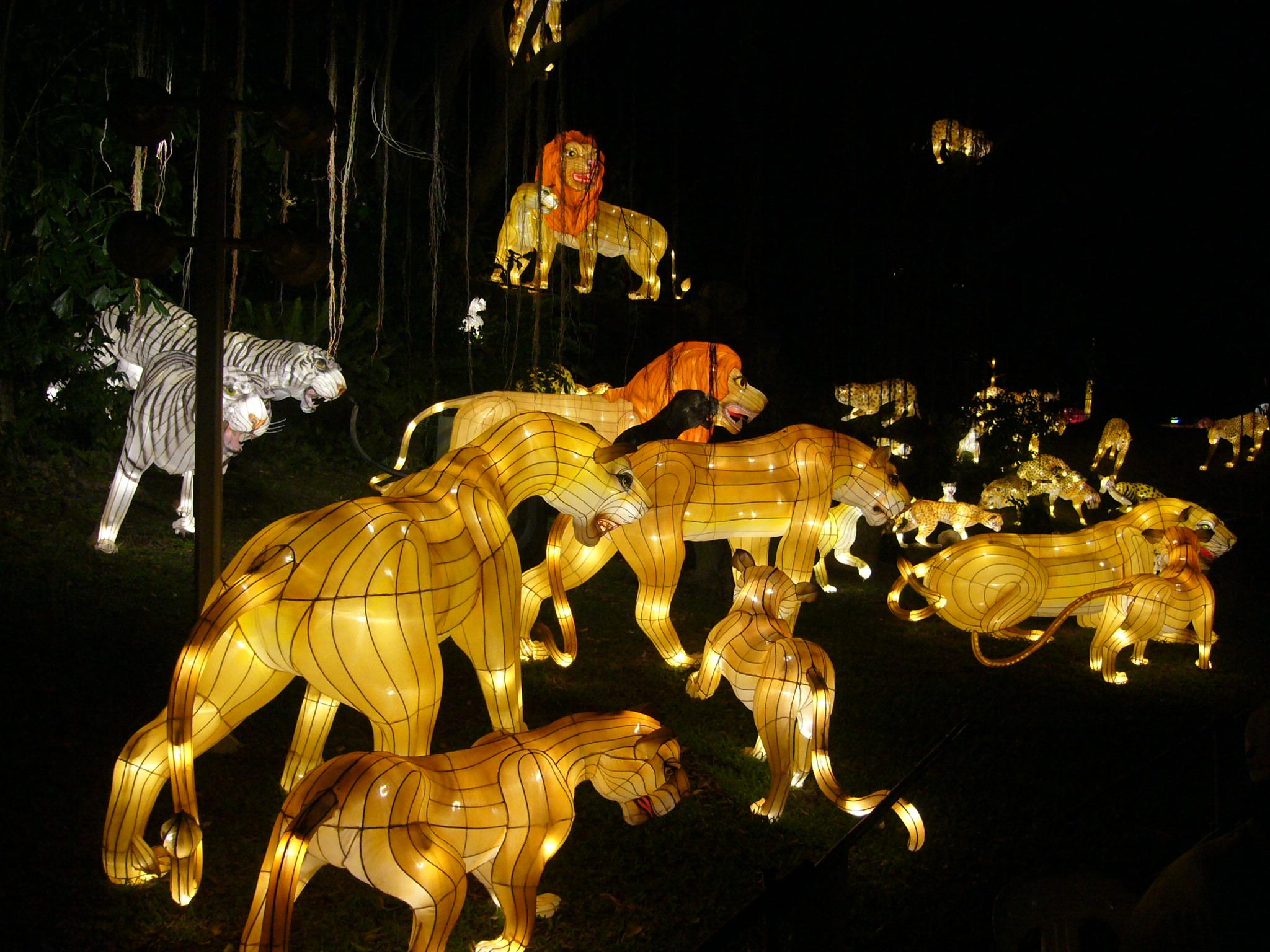 自贡灯会也可以是动物的大联欢